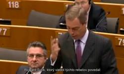 Nigel Farage o Richradovi Sulikovi a eurovale
