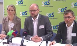 Tlačové konferencie SaS o politike na Slovensku