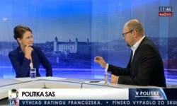 Relácia Vpolitike – Richard Sulík aĽuba Oravová