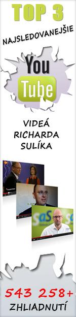 Top 3 YouTube videá Richarda Sulíka