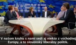 Richard Sulík u Maybritt Illner / ZDF