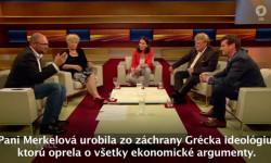 Pomoc Grécku - Richard Sulík vrelácii Anne Will na ARD