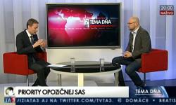 Richard Sulík na TA3 24.3.2016 | Nová vláda dostane 100 dní, ale voblasti korupcie jej nedáme ani jeden deň