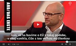Richard Sulík v Menschen bei Maischberger ARD/Das Erste