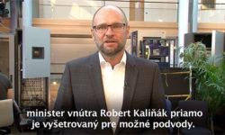 Robert Kaliňák a polícia -- Sulík